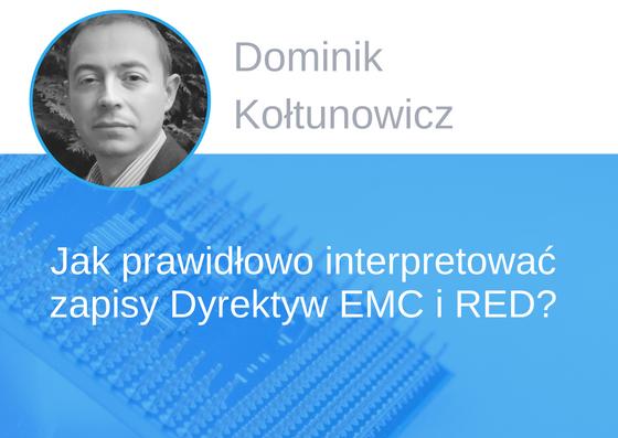 Prelegent konferencji EMC - Dominik Kołtunowicz