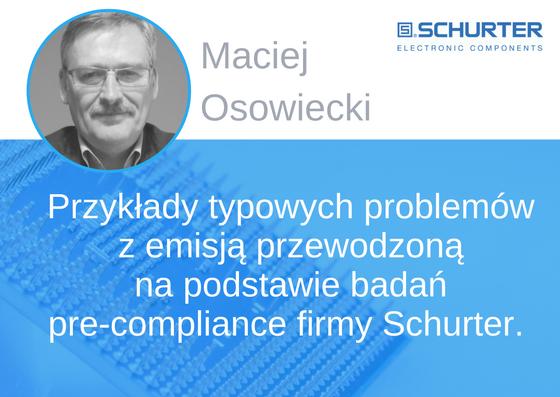 Prelegent konferencji EMC - Maciej Osowicki