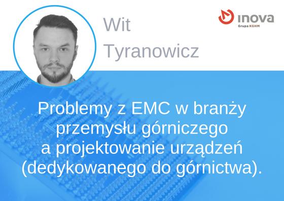 Prelegent konferencji EMC - Wit Tyranowicz