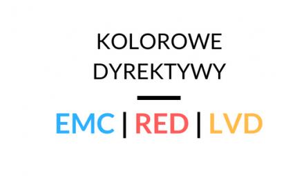 Kolorowe Dyrektywy dla elektroniki: EMC, LVD, RED
