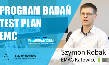 Program badań EMC – test plan